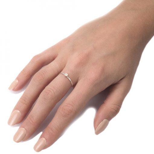 moonstone ring on hand