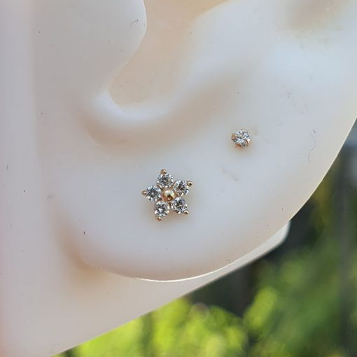 flower gold piercing