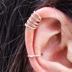 Gold earcuff on 2