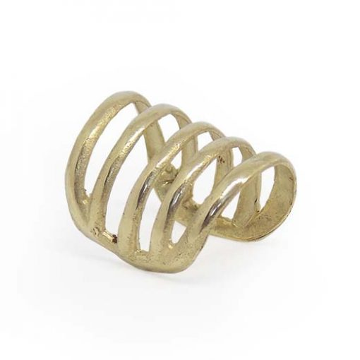 cage ear cuff gold