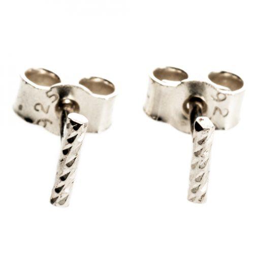 diamond cut studs