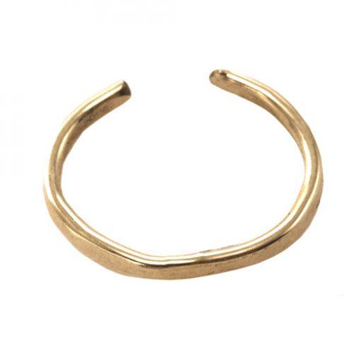Gold Hammered ear cuff
