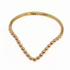 anello v shape half beaded