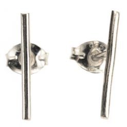 silver smooth bar studs