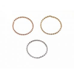 9k solid gold nose rings twisted