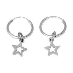 silver hoops star