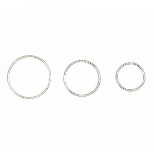 seamless silver nose ring