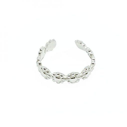 daisy silver earcuff